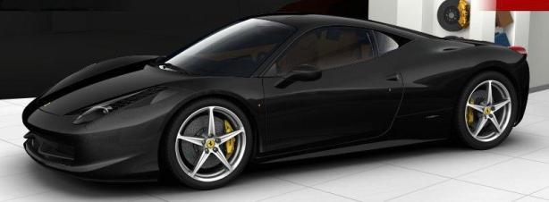 Ferrari 458 Italia in Nero Daytona