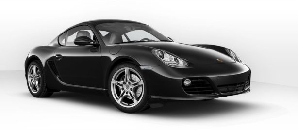 Porsche Cayman in Basalt Black