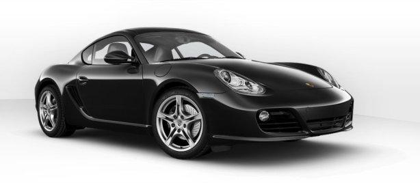 Porsche Cayman in Basalt Black
