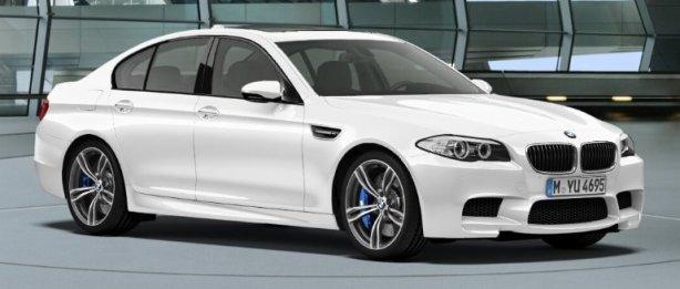 BMW F10 M5 in Alpine White