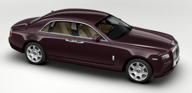 Rolls Royce Ghost in Madeira Red