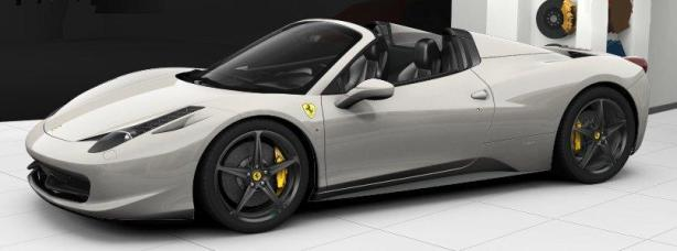 Ferrari 458 Spider in Bianco Avus