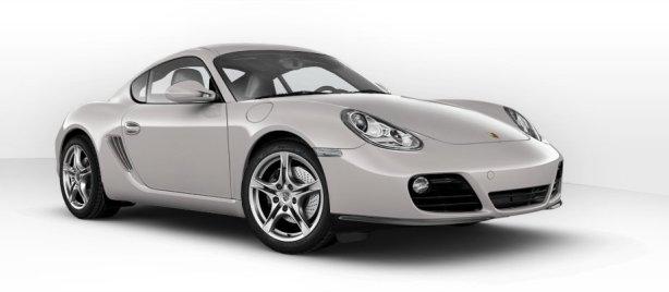 Porsche Cayman in Platinum Silver