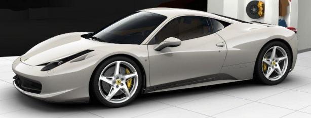 Ferrari 458 Italia in Bianco Avus