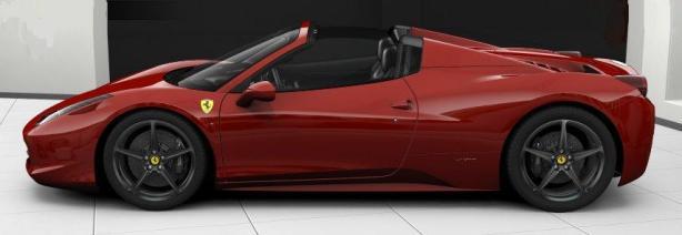 Ferrari 458 Spider in Rosso Corsa