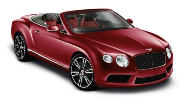 Bentley Continental GTC V8 in Dragon Red