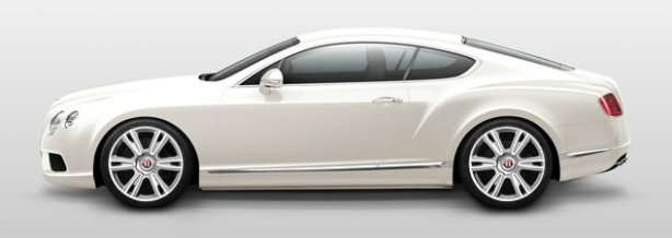 Bentley Continental GT V8 in Glacier White