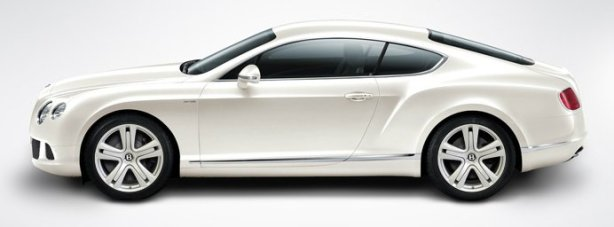 Bentley Continental GT W12 in Glacier White
