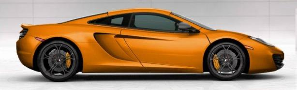 mclaren mp4-12c in mclaren orange