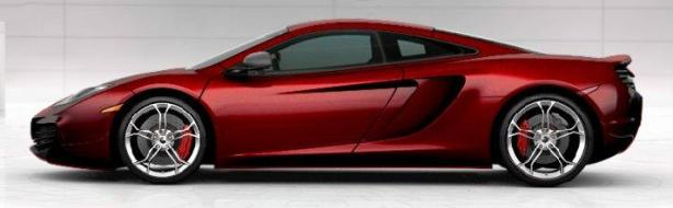 McLaren MP4-12C in Volcano Red