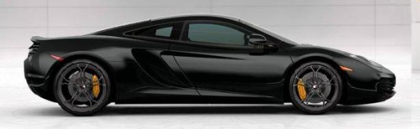 McLaren MP4-12C in Carbon Black
