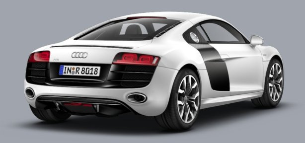 Audi R8 V10 Coupe in Ibis White
