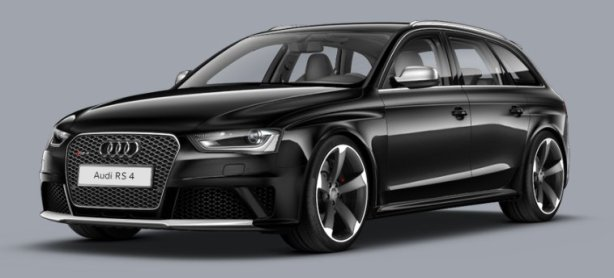 Audi RS4 Avant in Phantom Black