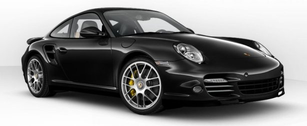 Porsche 911 Turbo S in Basalt Black