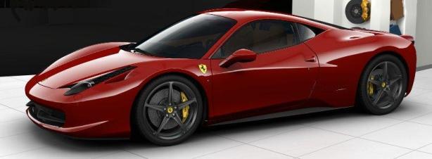 Ferrari 458 in Rosso Corsa