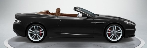 Aston Martin DBS Volante in Carbon Black