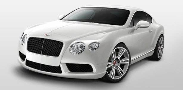 Bentley Continental GT V8 Coupe in Moonbeam Silver