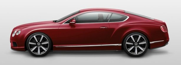 Bentley Continental GTV8 Coupe in Dragon Red