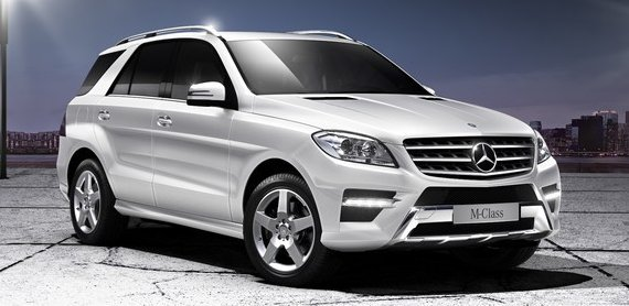 Mercedes Benz ML250 BlueTec Sport in Diamond White