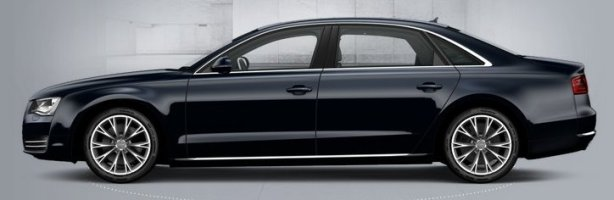 Audi A8 4.2 Tdi LWB in Night Blue