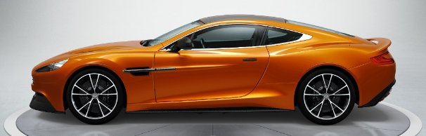 Aston Martin Vanquish in Madagascar Orange