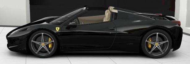 Ferrari 458 Spider in Nero Daytona