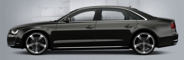 Audi A8 6.3 W12 LWB in Oolong Grey