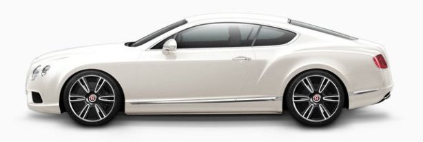 Bentley Continental GT V8 in Glacier White