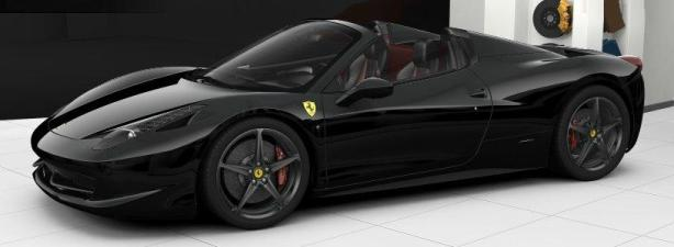 Ferrari 458 Spider in Nero