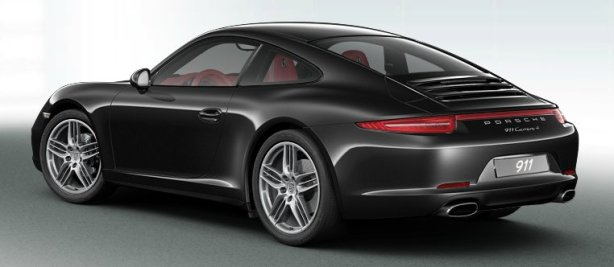Porsche 911 Carrera 4 PDK Coupe in Basalt Black