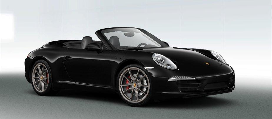 Porsche 911 Carrera S Cabriolet in Basalt Black