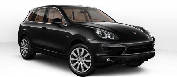 Porsche Cayenne D in Jet Black Metallic