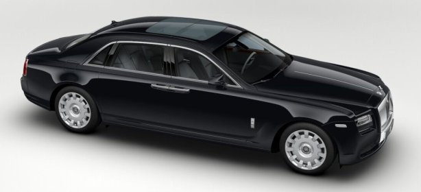 Rolls Royce Ghost EWB in Diamond Black