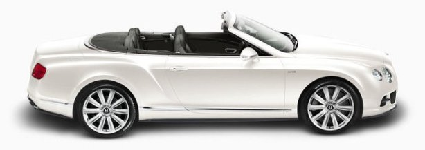 Bentley Continental GTC W12 in Glacier White