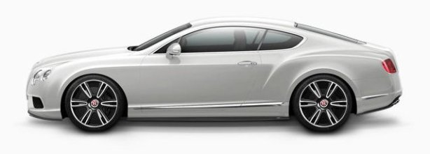 Bentley GTV8 in Moonbeam Silver