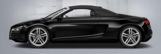 Audi R8 V8 Spyder in Phantom Black