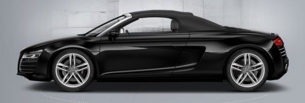 Audi R8 V8 Spyder in Phantom Black