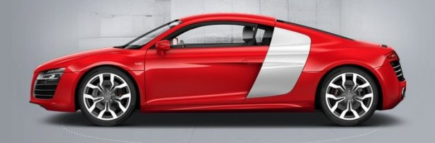 Audi R8 V10 Coupe in Brilliant Red