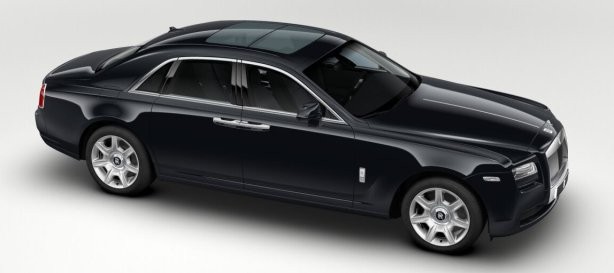 Rolls Royce Ghost in Diamond Black