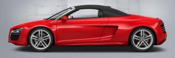 Audi R8 V10 Spyder in Brilliant Red