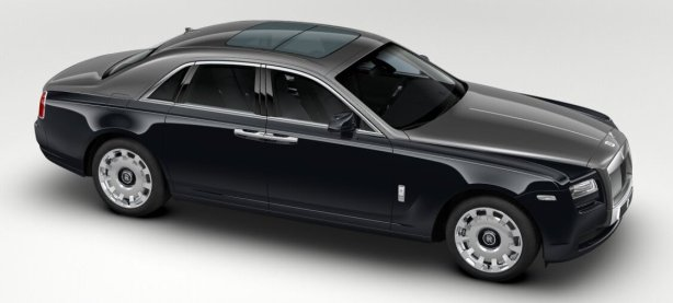 Rolls Royce Ghost in Diamond Black/Anthracite