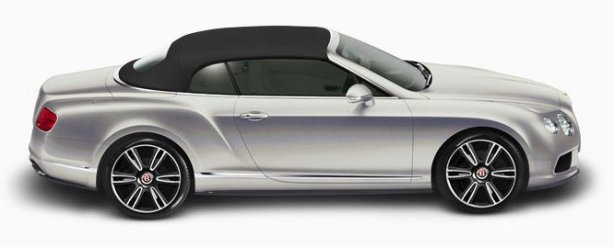 Bentley Continental GTC V8 in Extreme Silver