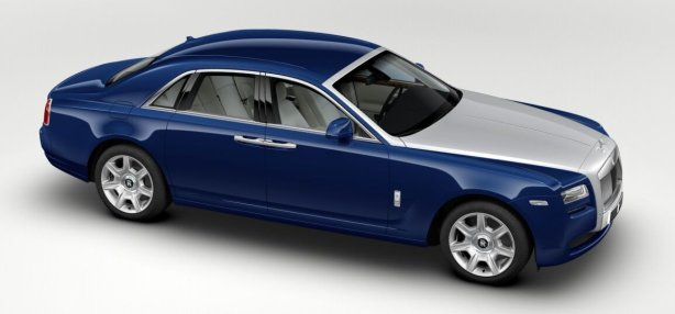 Rolls Royce Ghost in Mazarine Blue