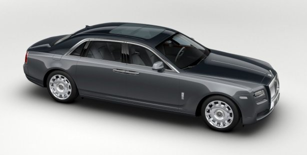 Rolls Royce Ghost EWB in Jubilee Silver/Dark Tungsten