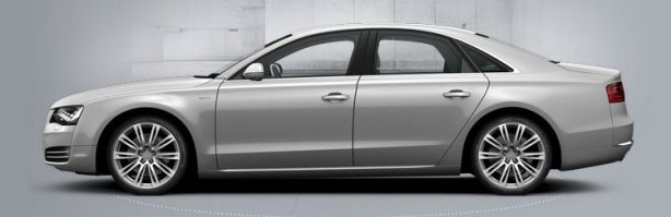 Audi A8 in Ice Silver