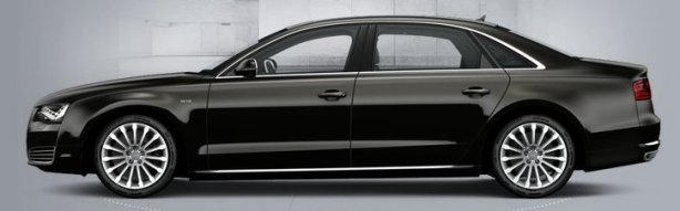 Audi A8 W12 in Havanna Black