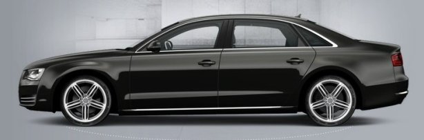 Audi A8 in Quartz Grey