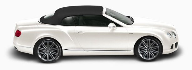 Bentley Continental GTC Speed in Glacier White