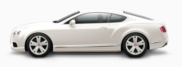 Bentley Continental GTV8 in Glacier white