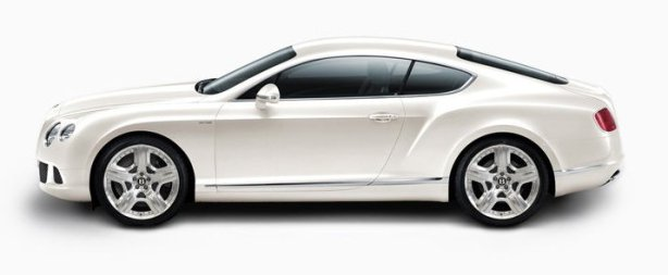Bentley Continental W12 in Glacier White